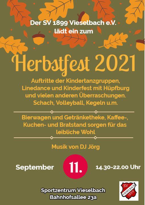 Herbstfest des SV 1899 Vieselbach e.V.